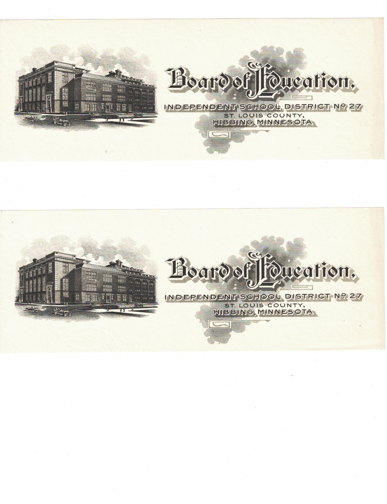 Image for Hibbing, Minnesota Board of Education: Independent School District No. 27 [two copies]
